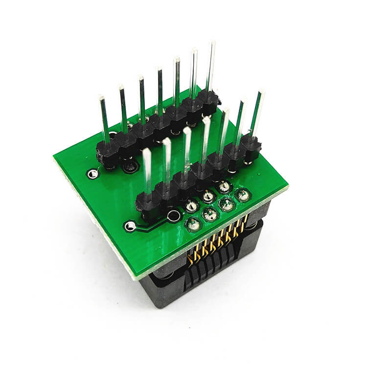 SOP8(16)-1.27 SOP8 SOIC8 SO8 to DIP8 Programming Socket Pitch 1.27mm IC Body Width 3.9mm 150mil IC Test Socket Adapter