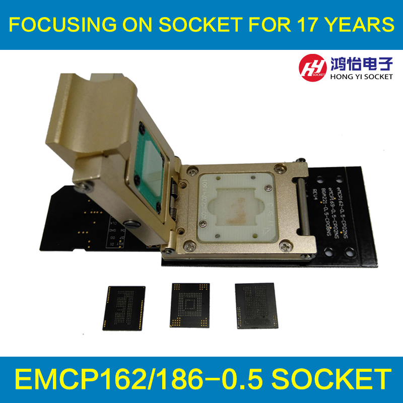 3 IN 1 eMMC153/169 eMCP162/186 eMCP221 Pogo Pin Test Socket Reader BGA153 BGA169 BGA162 BGA186 BGA221 Data Recovery SD Interface