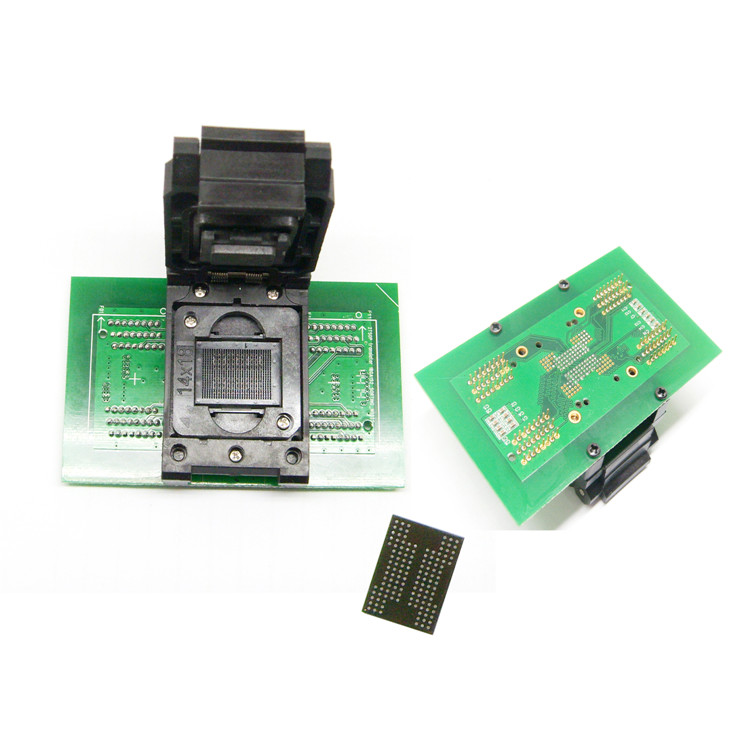 BGA132/BGA152 Test Socket to DIP96 adapter for SSD 8CE test ClamShell socket BGA152 Flash Memory Burn In Test IC Size optional
