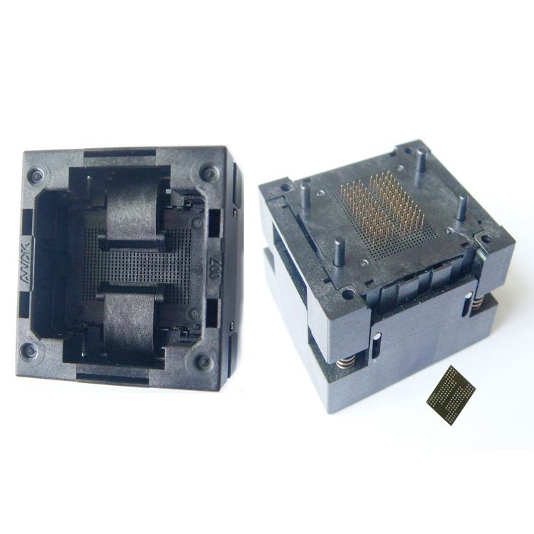 BGA132 BGA152 Burn in Socket BGA Adapter IC Test Socket For BGA88 BGA136 Flash Testing Programmer Adapter Open Frame Structure
