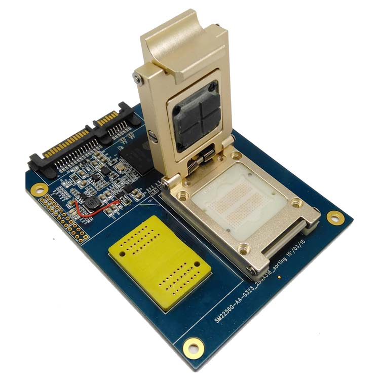 BGA316 TSOP48 to DIP48 test solution SM2256K main controller for test SSD chips and open Card