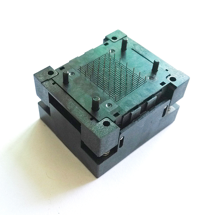 LGA60 Socket Open Top Structure IC Test Socket Burn-in Socket Size 13*17mm Programming Socket LGA Adapter Conversion Block