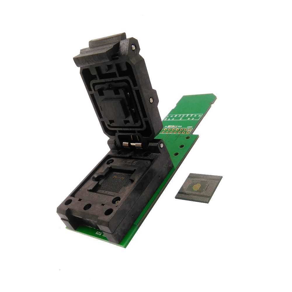 eMCP529 / BGA529 reader test socket with SD interface, BGA529 size 15*15mm for SAMSUNG Note4 Flash data recovery