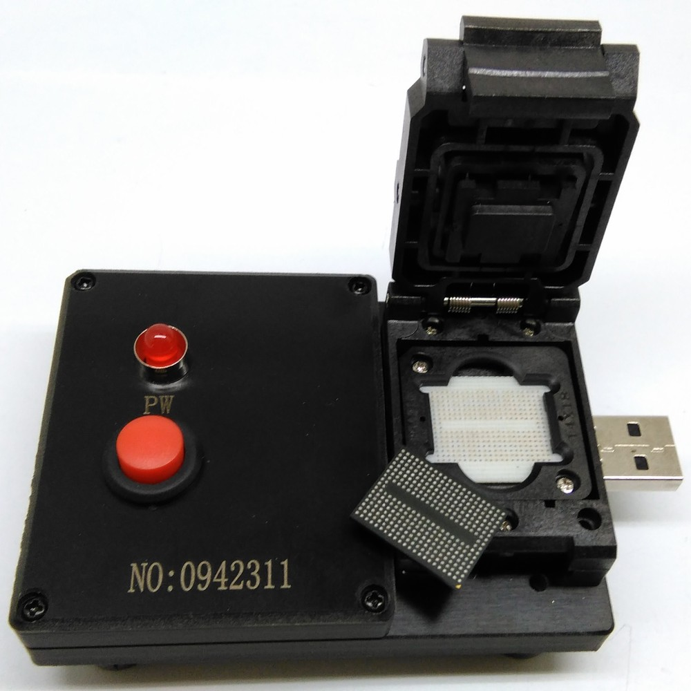 BGA316 U-Disk Test Jig 8CE AlcorMP Controller Clamshell USB Interface Probe Pogo Pin Fixture