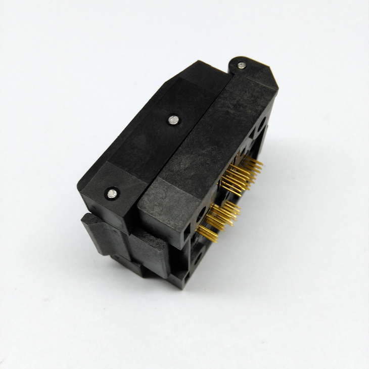 QFP48 TQFP48 LQFP48 Clamshell Pitch 0.5mm Programmer Socket FPQ-48-0.5-06 Test Flash Adapter Conversion Block