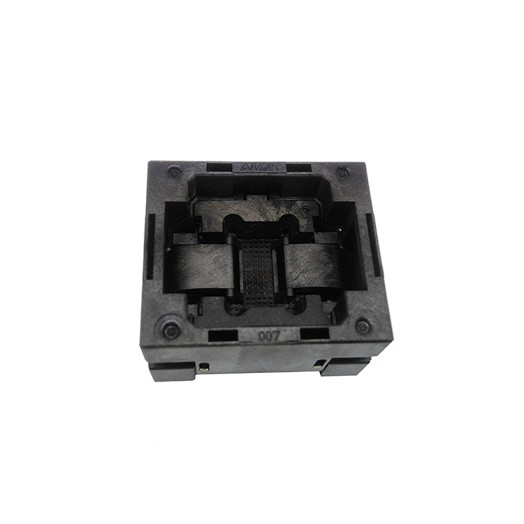 BGA140 OPEN TOP burn in socket pitch 0.65mm IC size 7*10mm BGA140(7*10)-0.65-TP01NT BGA140 VFBGA140 burn in programmer socket