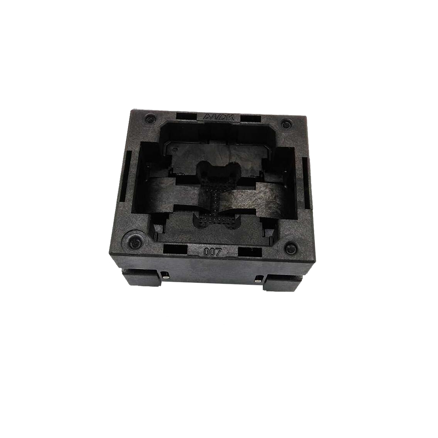 BGA48 OPEN TOP burn-in socket pin pitch 0.8mm IC size 8*10mm BGA48(8*10)-0.8-CP08/50N BGA48 VFBGA48 Burn in/programmer socket