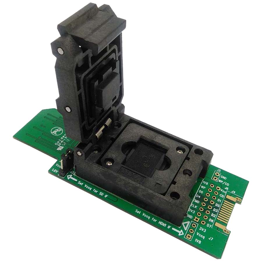eMMC test socket with SD Interface Pin Pitch 0.5mm HDMI Interface bonding pads Clamshell BGA153/169 Adapter