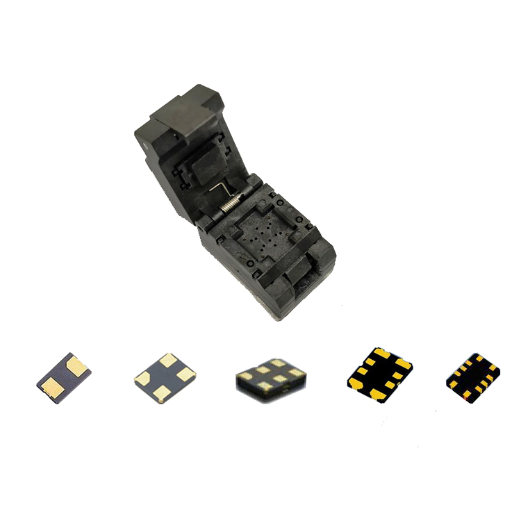 VCXO socket for 2 4 6 8 10pins device with 7050 5032 3225 2016 1612 crystal frequency chip