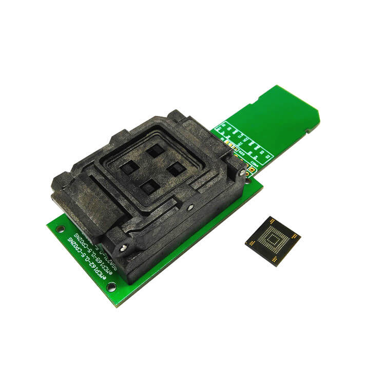EMMC153 BGA169 socket adapter SD interface smart digital device flash memory data recovery burn-in test programming code
