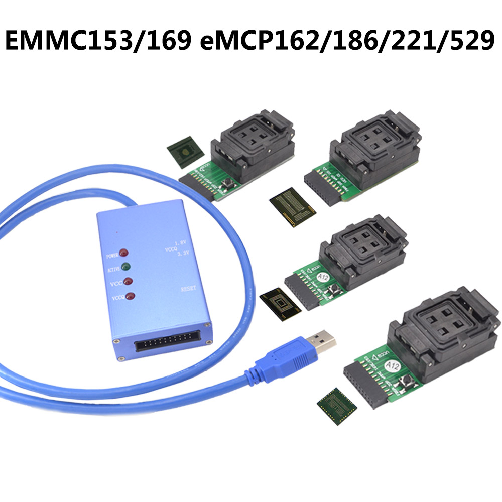 EMMC153 169 EMCP162 189 EMCP221 EMCP529 socket 6pcs for your Choice data recovery tools for android phone